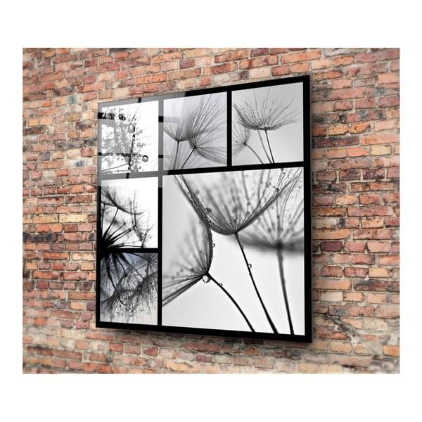 Čierno-biely sklenený obraz Insigne Harmo, 30 × 30 cm