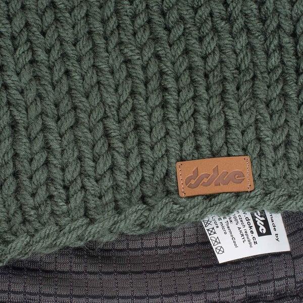 Olivovozelená ručne pletená čiapka DOKE Mina