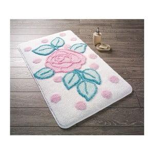 Biela predložka do kúpeľne Confetti Bathmats Biblos, 60×100cm