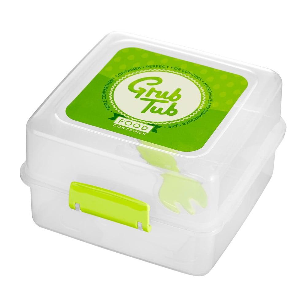 Set 2 desiatových boxov so zeleným vekom Premier Housewares Grub Tub, 13,5 × 10 cm