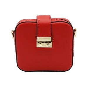 Červená listová kabelka z pravej kože Andrea Cardone Pacco