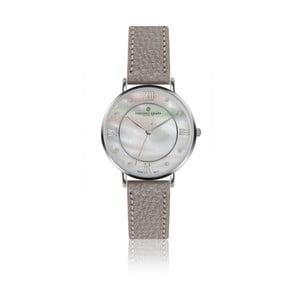 Dámske hodinky so sivým remienkom z pravej kože Frederic Graff Silver Liskamm Lychee Grey Leather