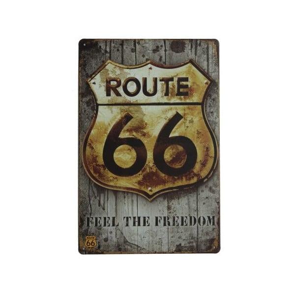 Ceduľa Route 66 Sloboda, 20x30 cm
