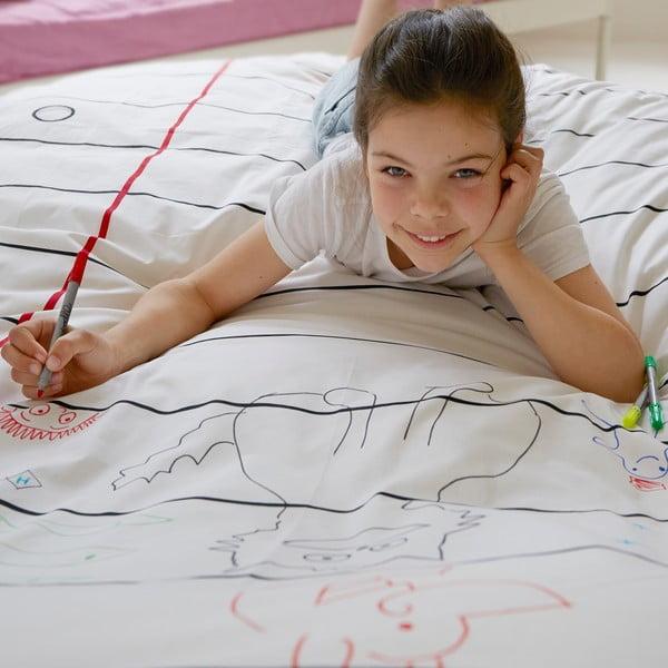 Obliečka na paplón na vymaľovanie Doodle, 140x200 cm