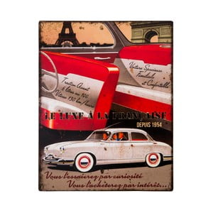 Kovová ceduľa Antic Line Le Luxe a la Francaise, 22 x 28 cm