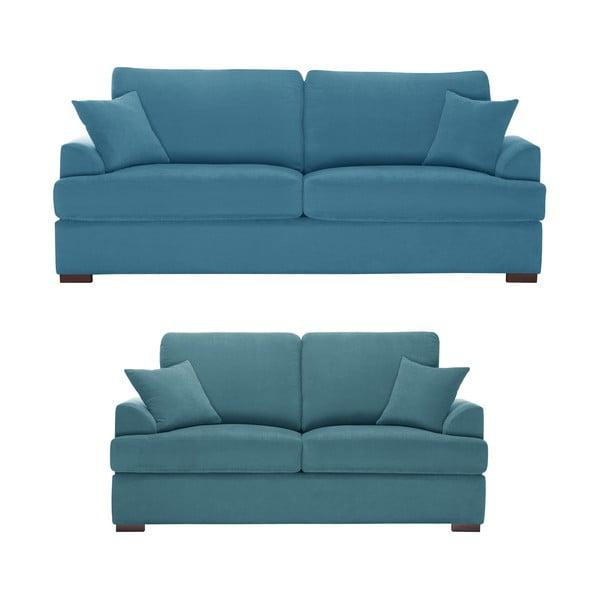 Dvojdielna sedacia súprava Jalouse Maison Irina, modrá