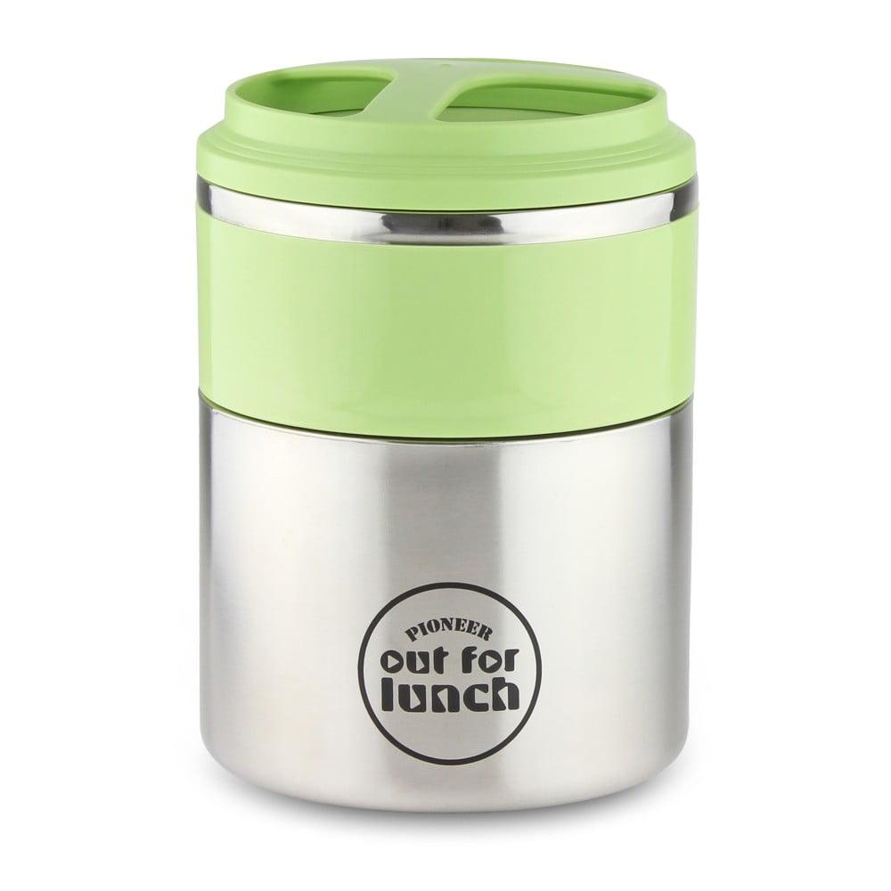 Vakuový desiatový box so zeleným antikoro vekom Out for lunch Kitchen, 2 l