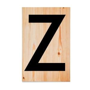 Drevená ceduľa Letters Z