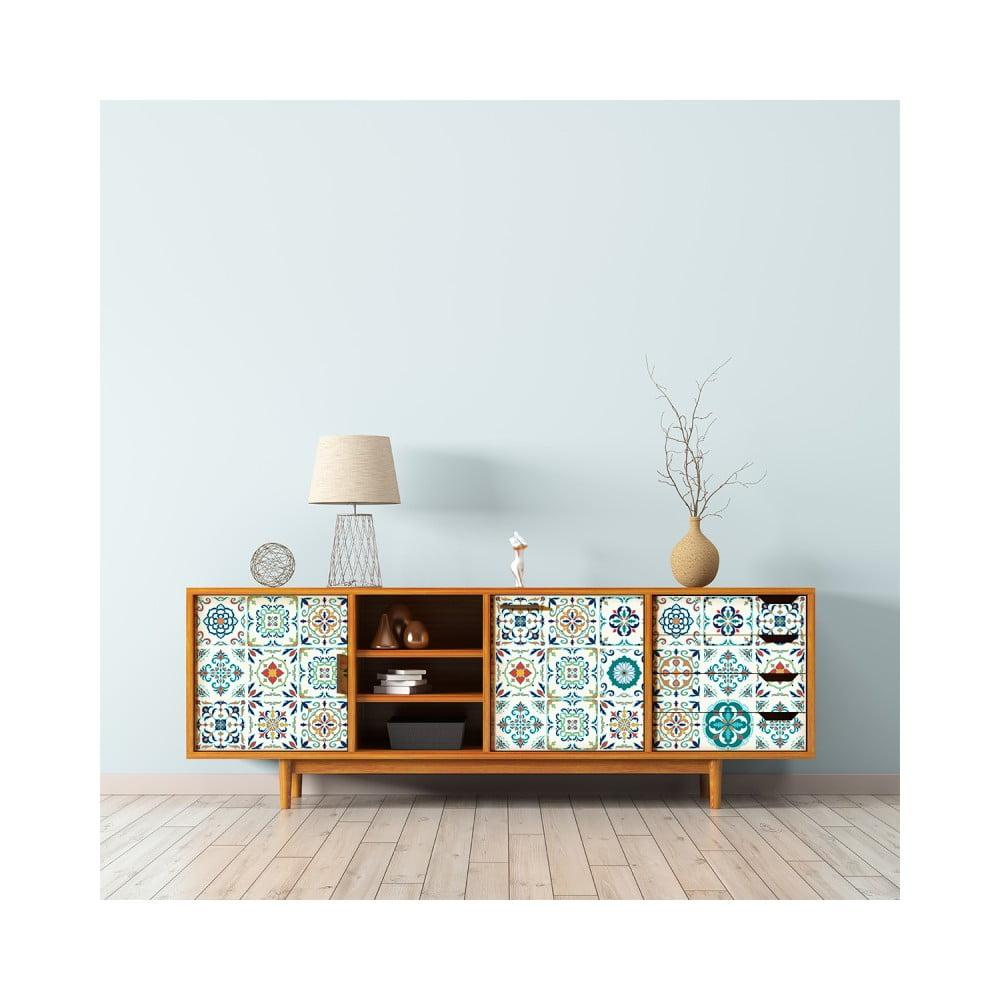 Sada 30 samolepiek na nábytok Ambiance Tiles Stickers For Furniture Angia, 15 × 15 cm