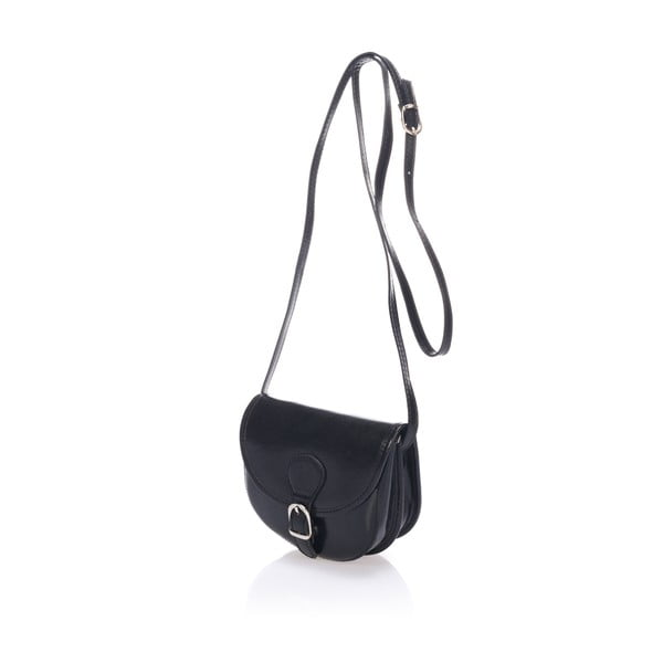 Čierna kožená kabelka Giorgio Costa Calf