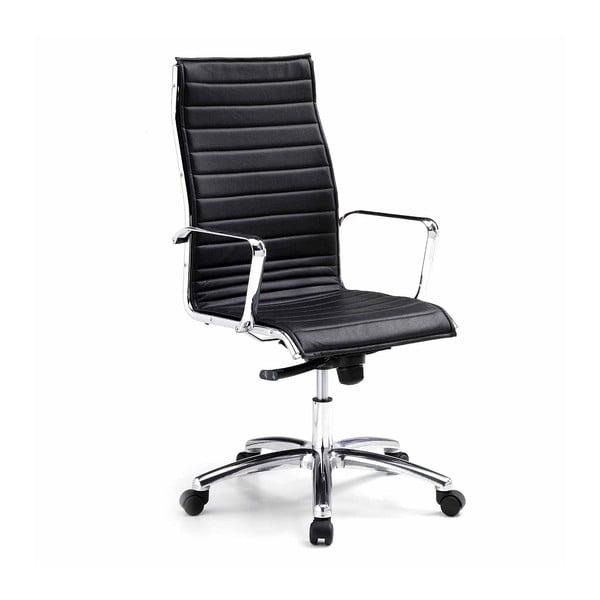 Čierna kancelárska stolička s kolieskami Zago High Chrono
