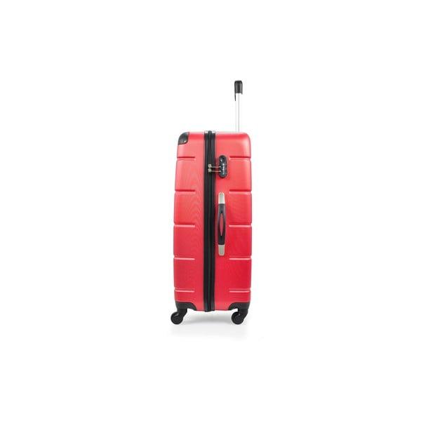 Sada 3 kufrov Riana, červená