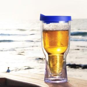 Nezničitelný pohár na pivo Brew2Go, modrá