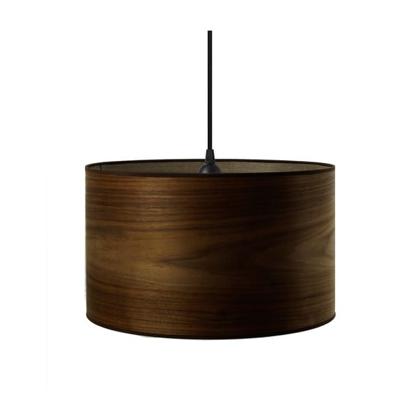 Závesné svietidlo z prírodnej dyhy vofarbe orechového dreva Sotto Luce TSURI, Ø40 cm