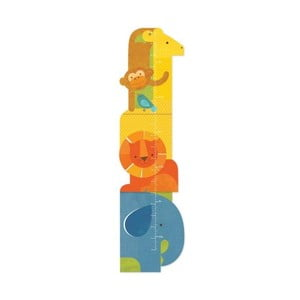 Detský nástenný meter Petit collage Animal Tower