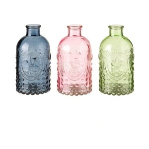 Sada 3 sklenených váz Unimasa Luciana