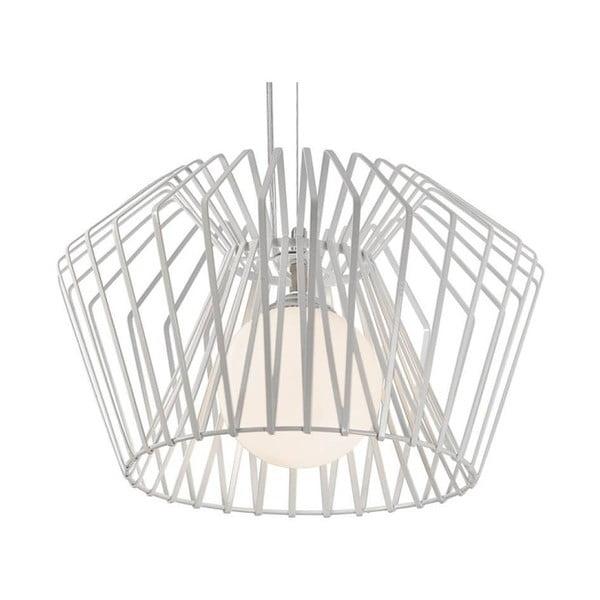 Biele stropné svietidlo Cage, 85 cm