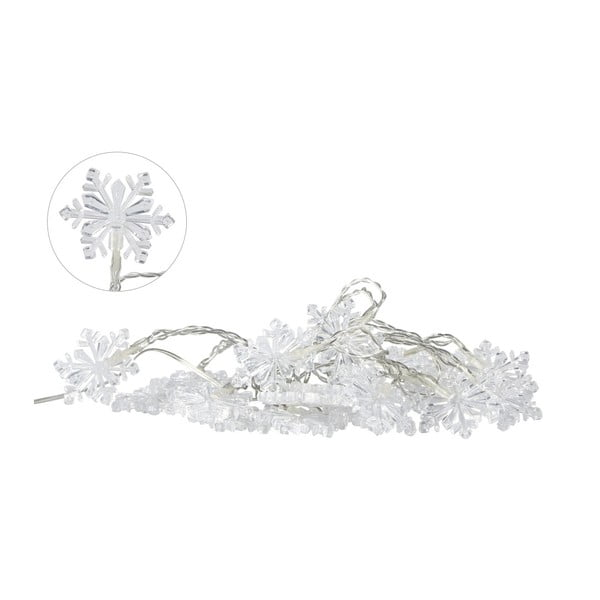 Svetelná LED reťaz Villa Collection Snowflake, 20svetielok