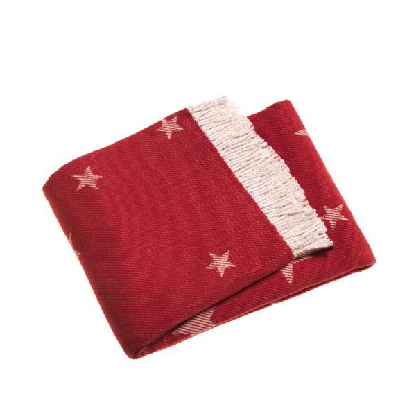 Červená deka Euromant Stars, 140x180cm