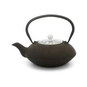 Hnedá liatinová kanvička na čaj Bredemeijer Yantai, 1,2 l