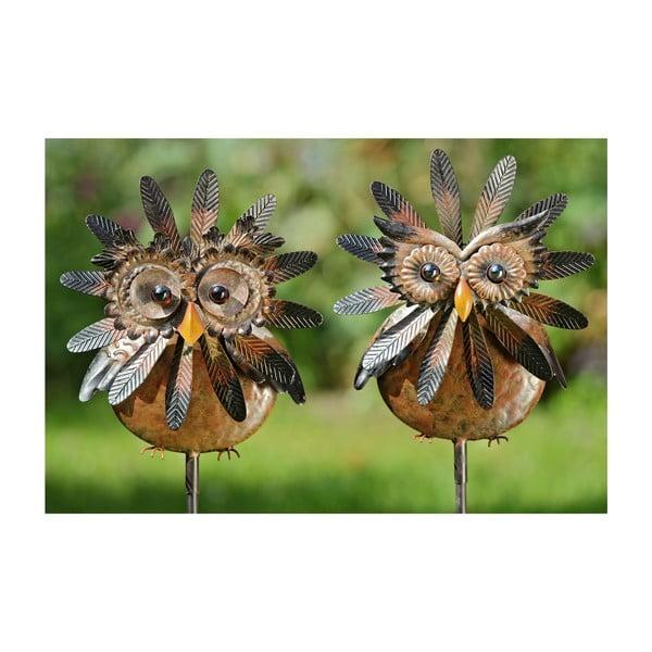 Sada 2 záhradných dekorácií Owl, 138 cm