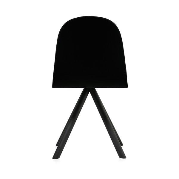 Čierna stolička s čiernymi nohami IKER Mannequin Triangle