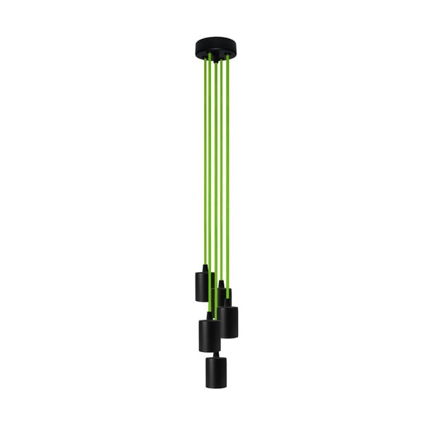 Päť závesných káblov Cero, zelená/čierna