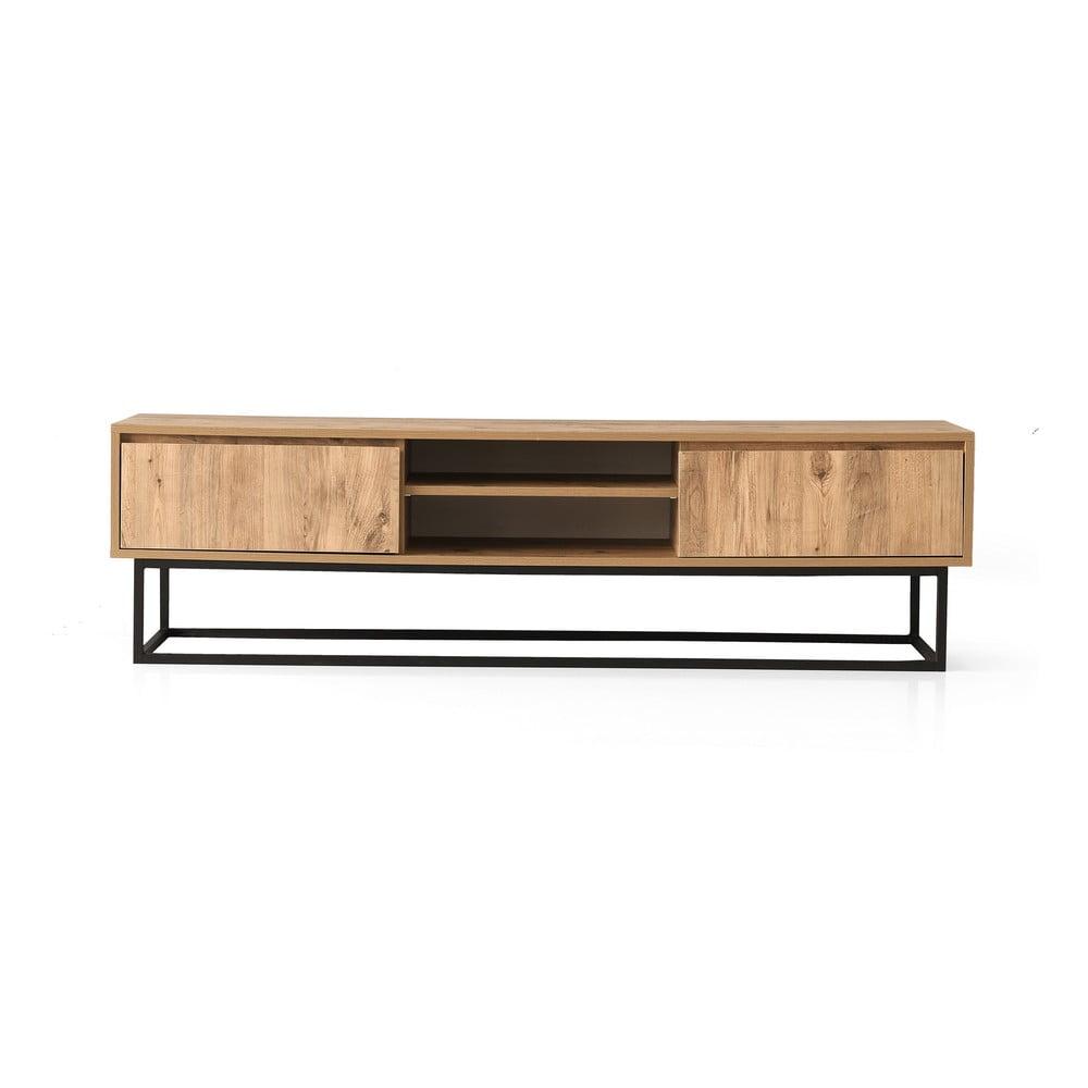 TV stolík v borovicovom dekore Belinda, šírka 140 cm