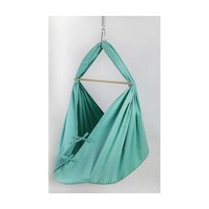 Mentolovozelená kolíska z bavlny so zavesením do dverí Hojdavak Baby XL (0 až 9 mesiacov)