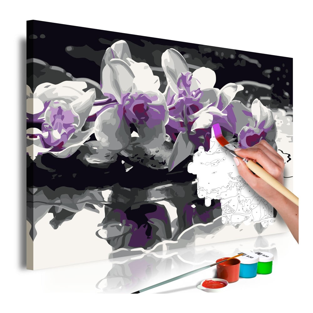 DIY set na tvorbu vlastného obrazu na plátne Artgeist Orchid Reflection, 60 × 40 cm