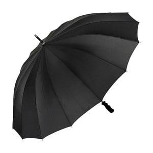Čierny dáždnik s rúčkou Von Lilienfeld Cleo XXL