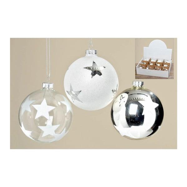 Sada 12 ks vianočných gulí Holly Ball