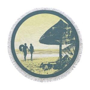 Kruhová plážová osuška La Chanta Sahil Round Beach Towel, ⌀1,5m