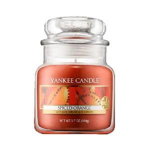 Vonná sviečka Yankee Candle Pomaranč so štipkou korenia, doba horenia 25 - 40 hodín