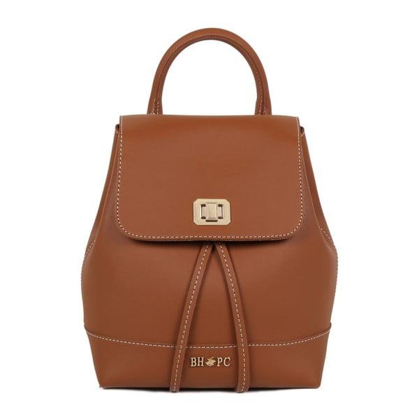 Hnedý batoh z eko kože Beverly Hills Polo Club Polly