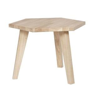Odkladací stolík z dubového dreva WOOOD Hex