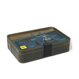 Čierny úložný box s priehradkami LEGO® Batman