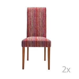 Sada 2 jedálenských stoličiek s drevenou podnožou Kare Design