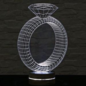 3D stolová lampa Ring