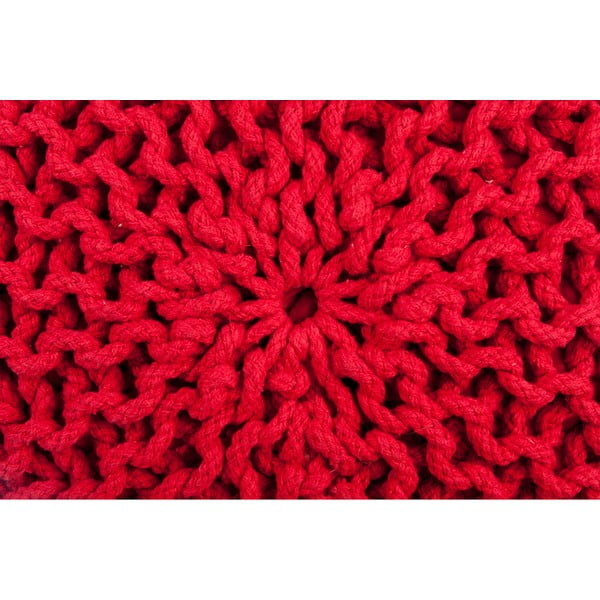 Puf Hassock Red, 35x50 cm