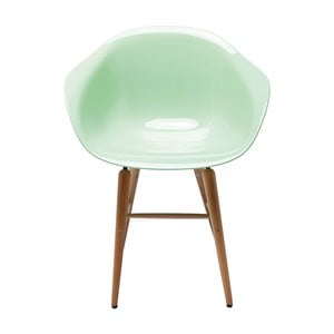 Svetlozelená stolička s opierkami Kare Design Forum