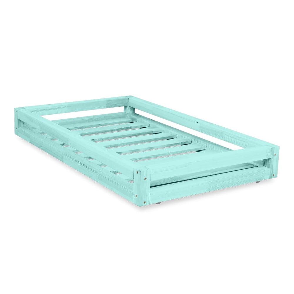 d0a7c9f3cf747 Sada modrej zásuvky pod posteľ a 4 predĺžených nôh Benlemi, pre posteľ 80 ×  180 ...