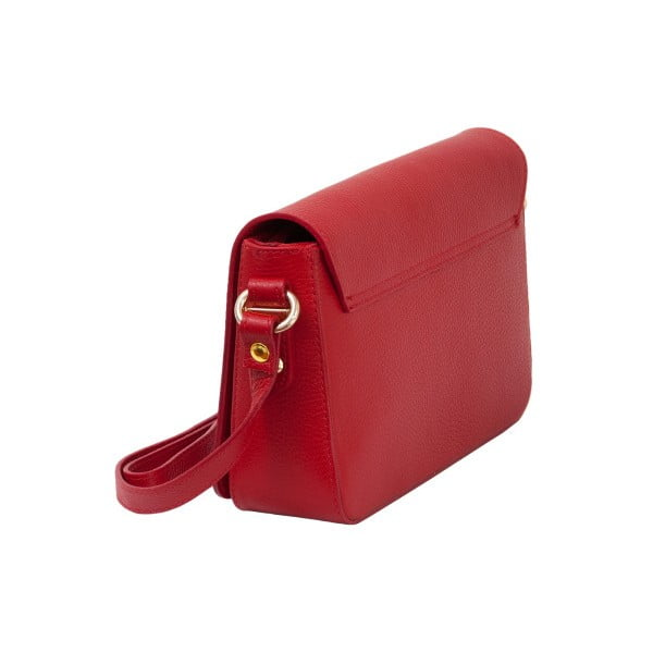 Červená kabelka z pravej kože Andrea Cardone Nicol
