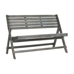Sivá záhradná skladacia lavica z akáciového dreva Safavieh Ferrat