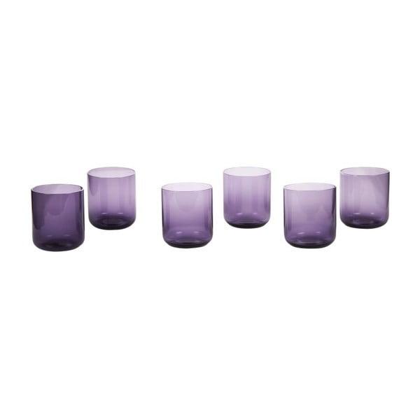 Sada 6 pohárov Venice Purple