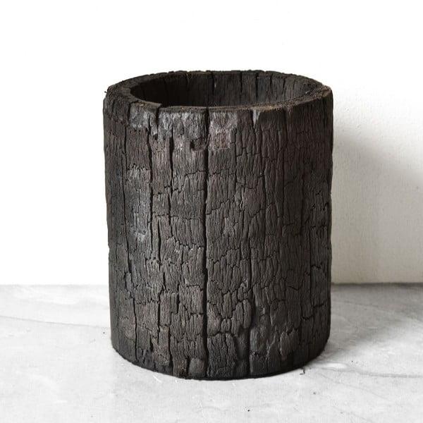 Vypálený palmový kvetináč Wooden