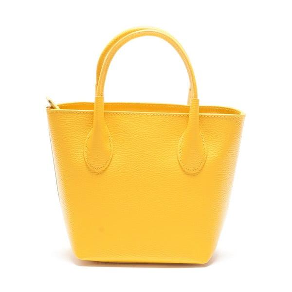 Kožená kabelka Carlota, žltá