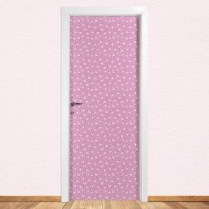 Samolepka na dvere LineArtistica Flamingo Rosa, 80×215cm