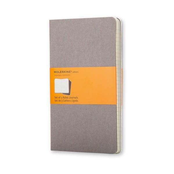 Sada 3 malých zápisníkov Moleskine Cahier, 9 x 14 cm