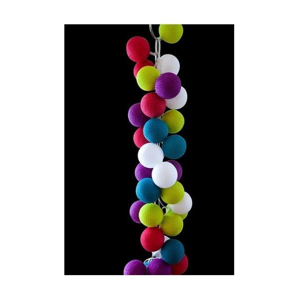 Sveteľná reťaz Rainbow Drops, 35 ks svetielok z bistra U Kubistu